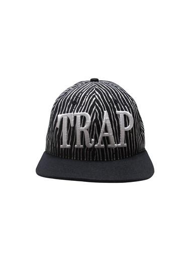 Laslusa TRAP Hip Hop Snapback Şapka Siyah